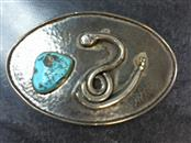Turquoise Silver-Stone Belt Buckle 925 Silver 82.8g